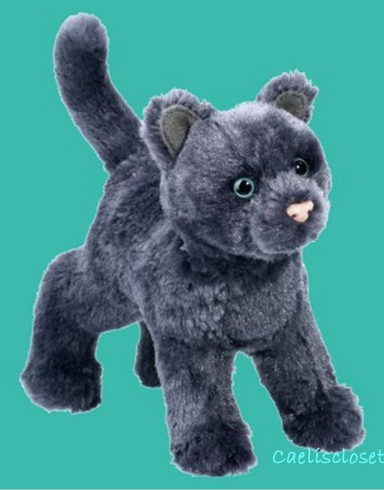Douglas Higgins Grey Cat Plush Stuffed Animal Gray Kitten Cuddle Toy