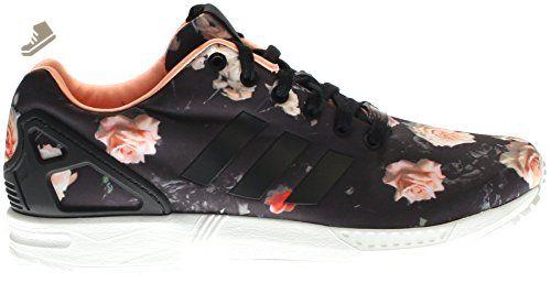 e426964ec201 Adidas ZX Flux Women s Shoes Carbon Black Semi Flash Orange b34010 (11 B(