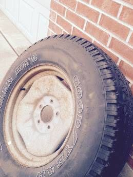 Dodge Ram 1500 Spare Wheels And 265 70 17 Inch Tire On Steel Rim Oem 170 For Sale Or Trade Set Of Alloy Whee Dodge Wheels Tires For Sale Dodge Truck Parts