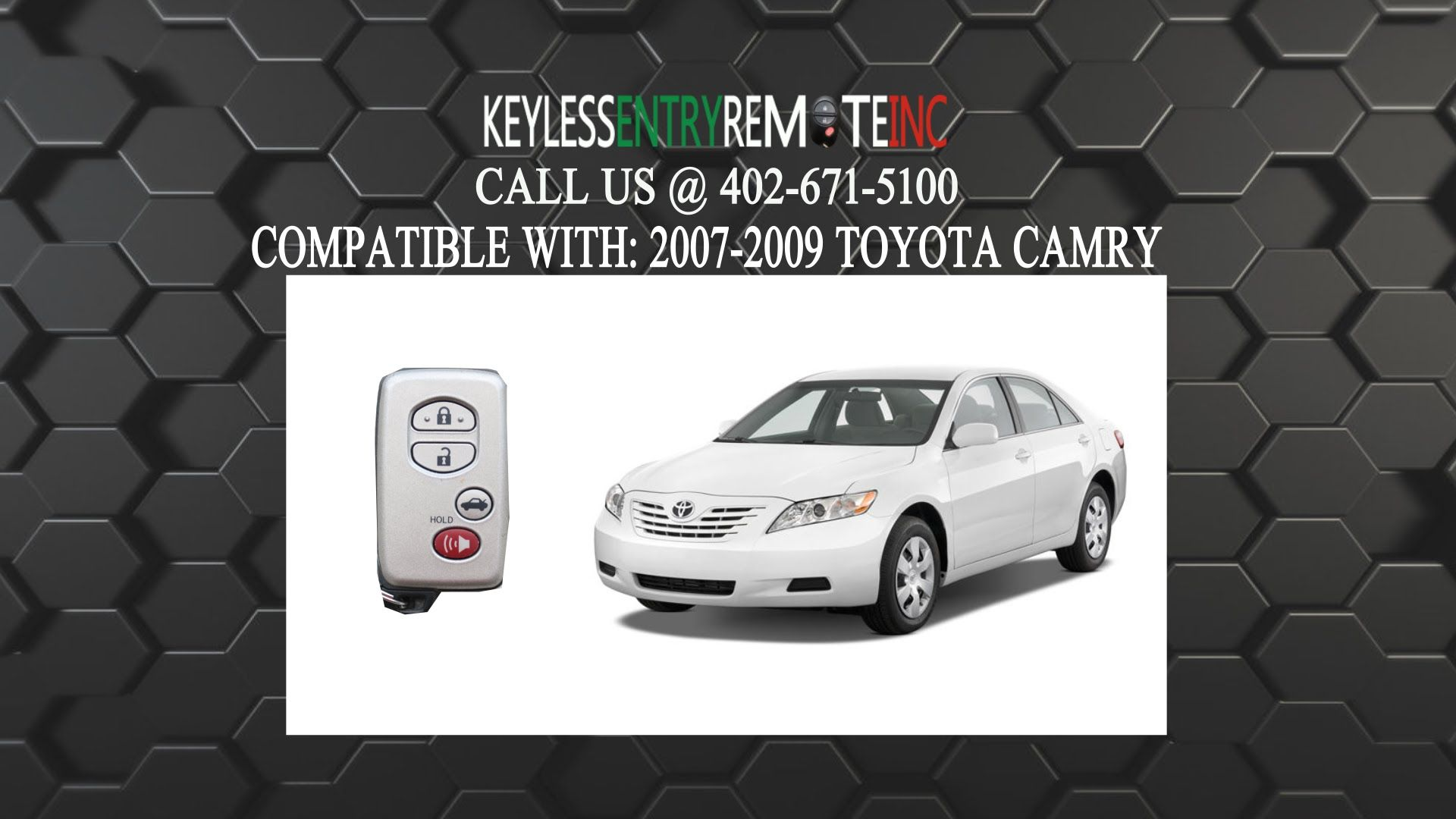 How To Replace Toyota Camry Smart Key Fob Battery 2007 2009