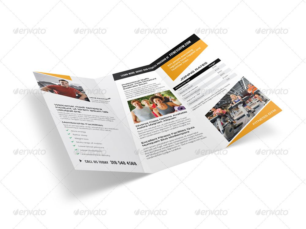 Fitness Gym Trifold Brochure #Affiliate #Gym, #sponsored, #Fitness, #Brochure, #Trifold