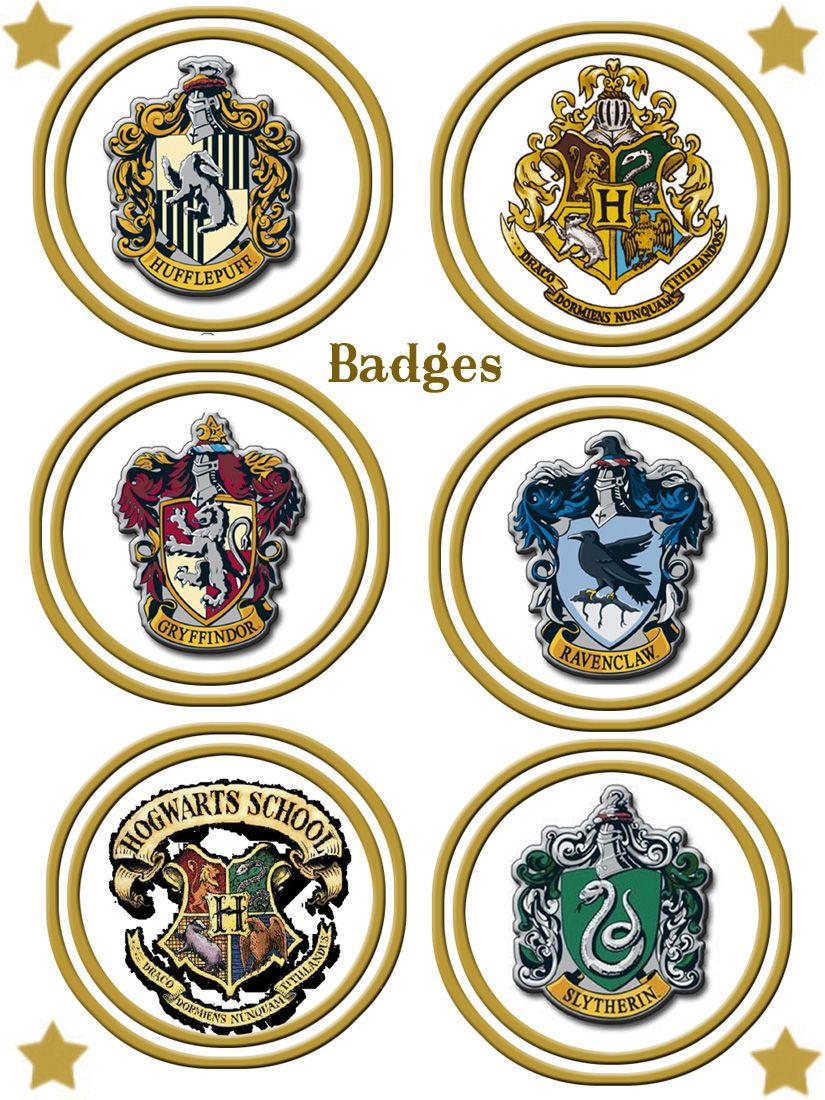 Blason Maison Harry Potter A Imprimer