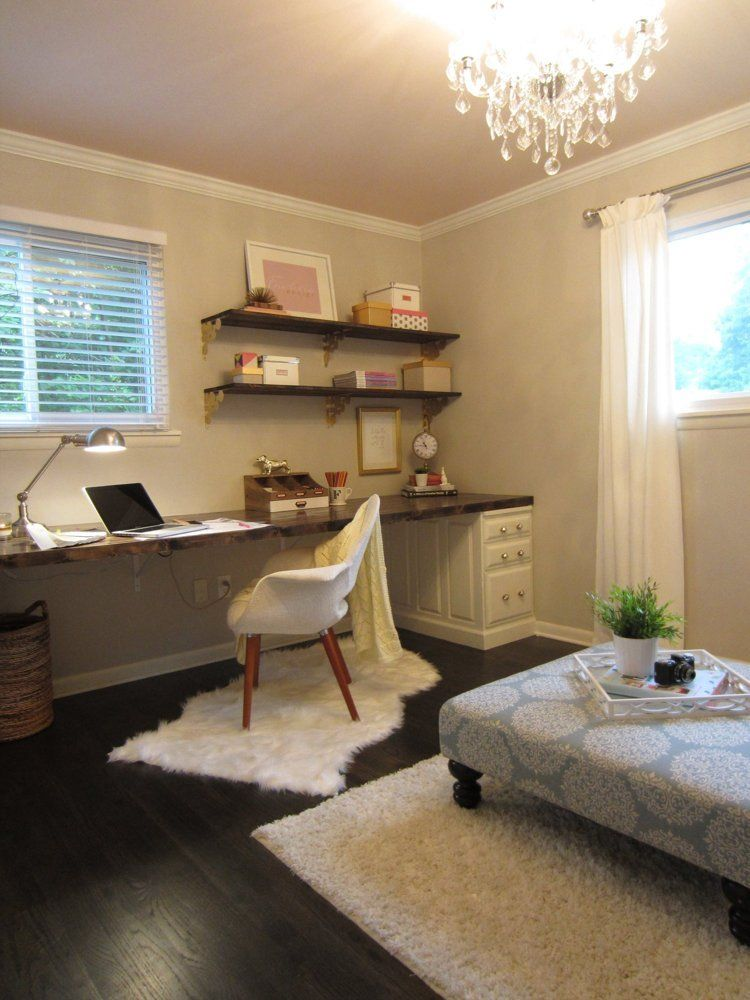 Autumn & Justin's Sleek Yet Rustic Ranch Home office