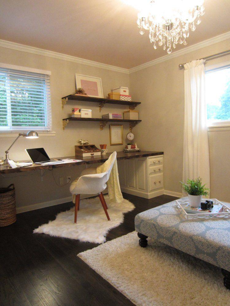 Autumn Justin S Sleek Yet Rustic Ranch Bedroom Office Combo