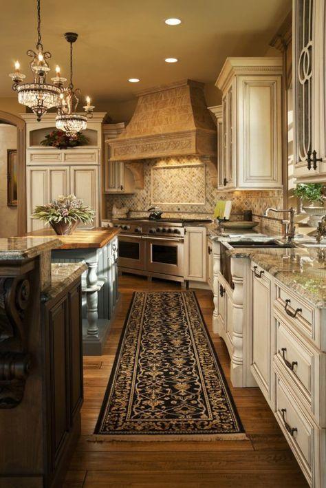 Les plus belles cuisines qui vont vous inspirer kitchens belle cuisine cuisine toscane et - Peinture d armoire de cuisine ...