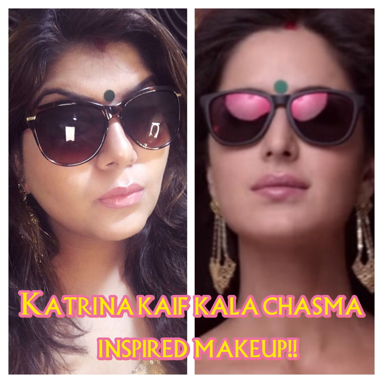 Katrina kaif inspired makeup kala chasma do subscribe comment katrina kaif inspired makeup kala chasma do subscribe comment and like the video baditri Image collections