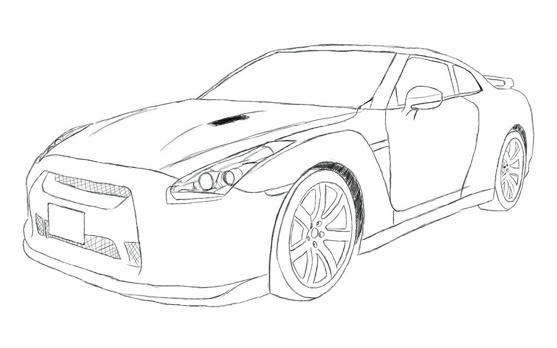 gtr drawings nissan gtr gtr drawing nissan gtr r35