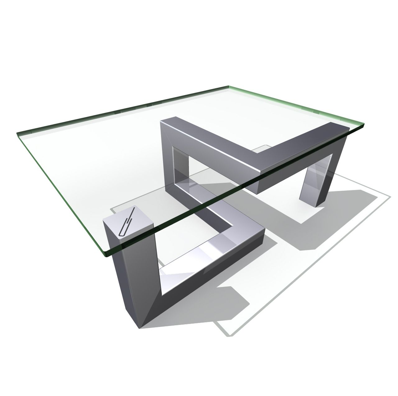 table basse en verre et acier table basse ronde verre tremp sybil ampm with table basse en. Black Bedroom Furniture Sets. Home Design Ideas