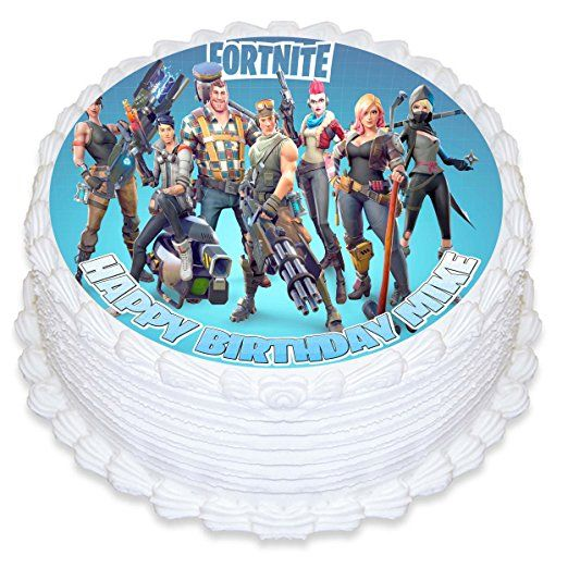 Fortnite Cake Topper Personalized Birthday 8 Round Circle