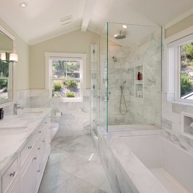 8x11 Bathroom Home Design Ideas Pictures Remodel And Decor Traditional Bathroom Marble Bathroom Designs White Marble Bathrooms