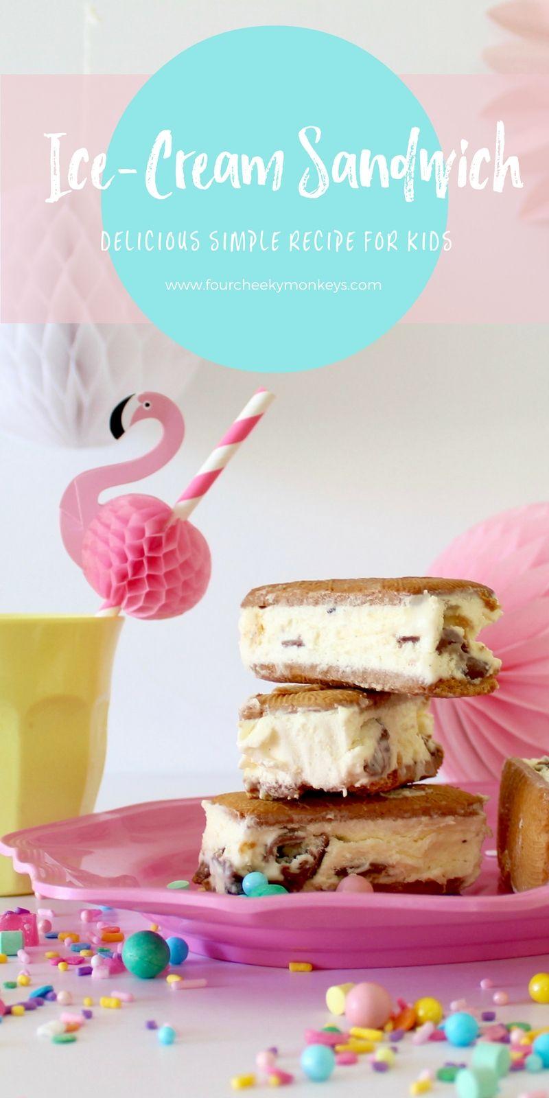 Delicious IceCream Sandwiches Easy ice cream sandwich recipe