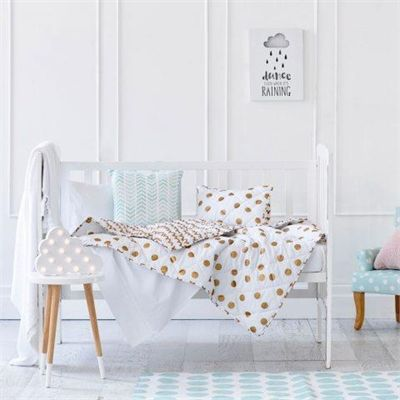 Do you like this Adairs Kids Metallic Cot Coverlet Set  - Gold