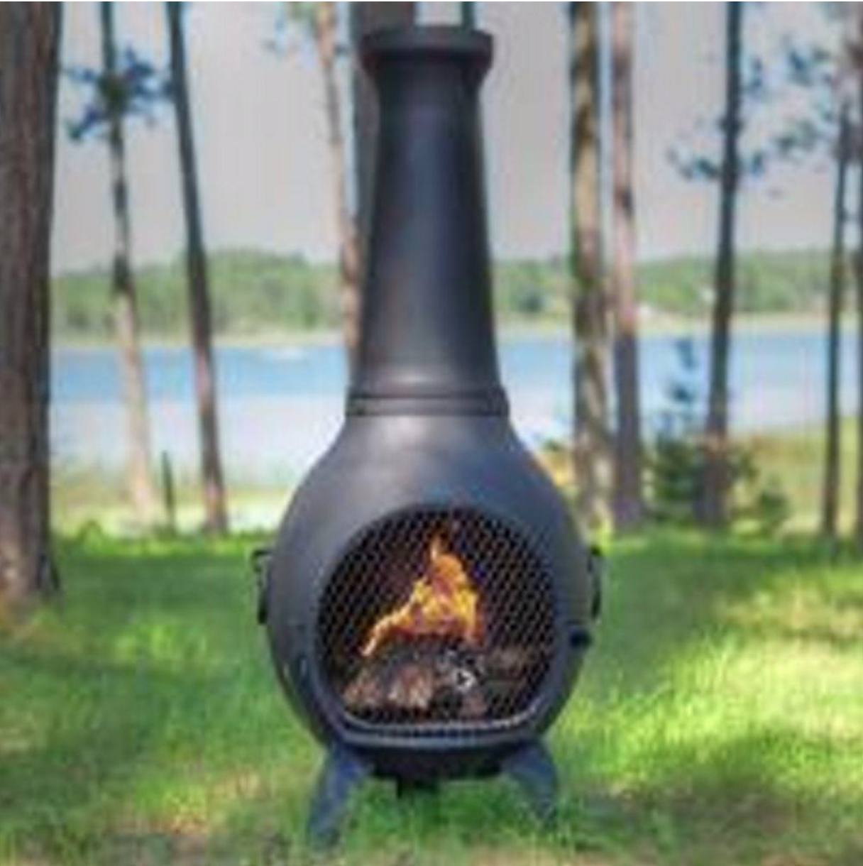 Safe Single Opening Traditional Chiminea Gas Chiminea Conversion With Ceramic Log Set Non Rusting Solid Cast A Chiminea Fire Pit Clay Fire Pit Outdoor Fire Pit