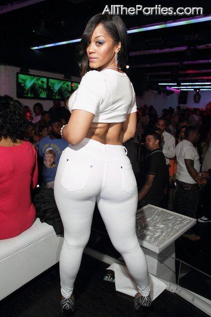 Big ass white pants