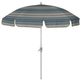 7 Ft 6 In Round Blue Patio Umbrella With Tilt And Crank