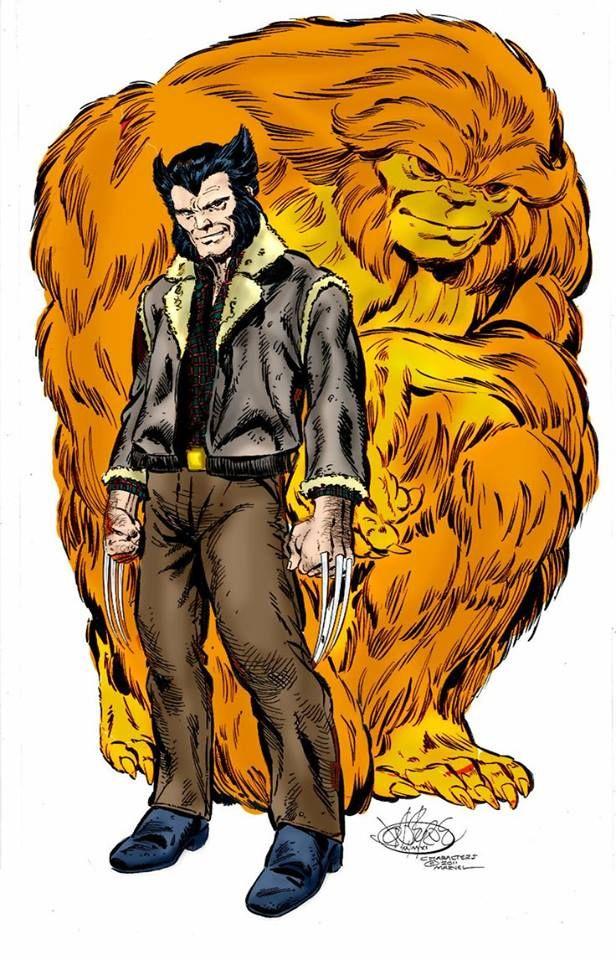 Wolverine & Sasquatch by John Byrne