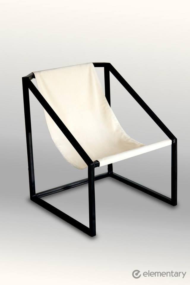 Comodidad y estilo silla de tubo cuadrado con lona for Sillas para jardin de herreria
