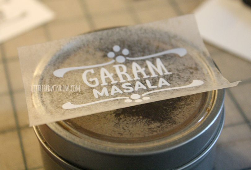Diy spice jar labels littleredwindow com make your own custom labels quickly and easily with vinyl