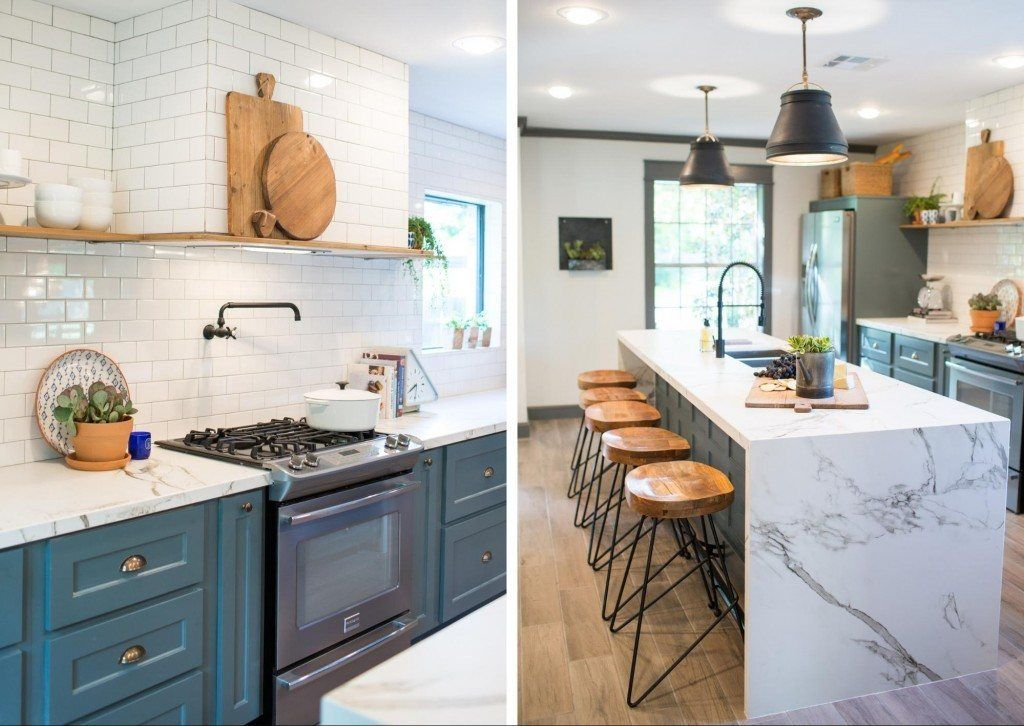 White subway tile and I love the island and countertop! | At the ...