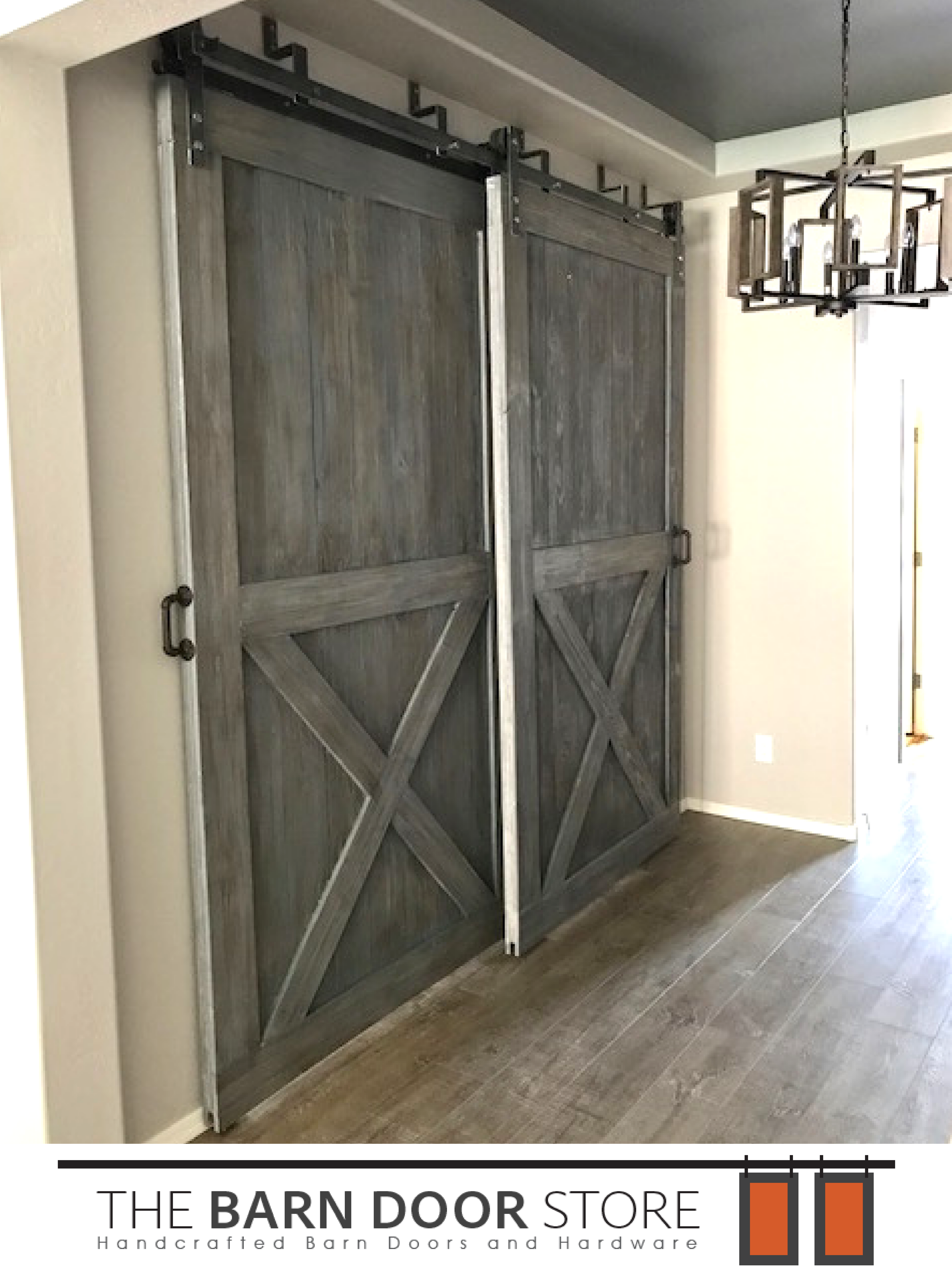 Our Clients In Surpriseaz Requested Bottom X Bypass Barn Doors In