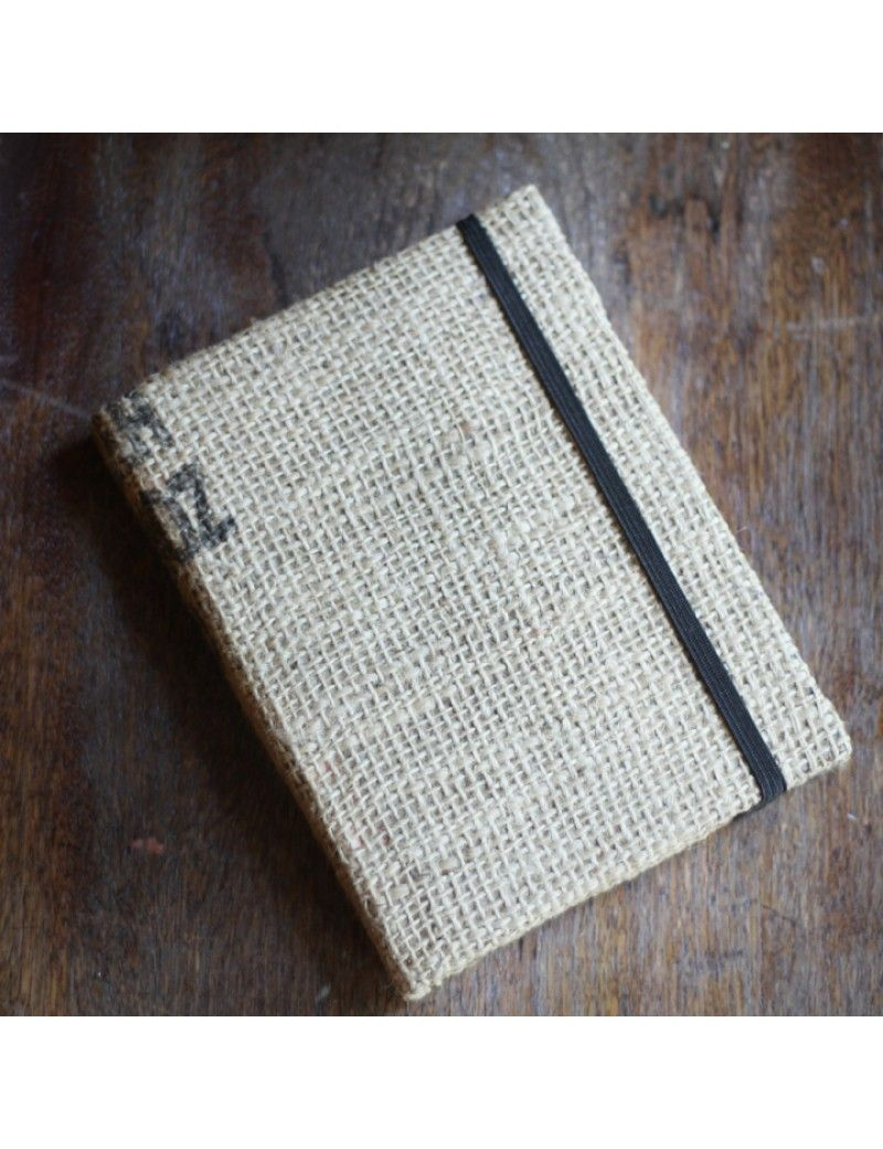 Burlap journals medium made by 2nd story goods look for