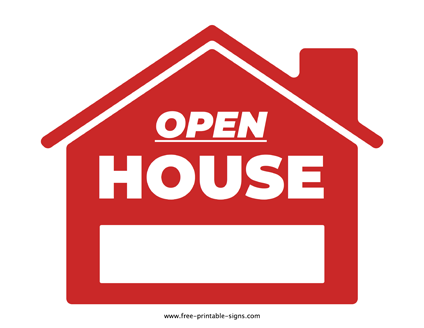 Use This Printable Open House Sign And Let People Know The Availability Of An Open House In Order To Draw The Attention Open House Signs Open House Home Signs