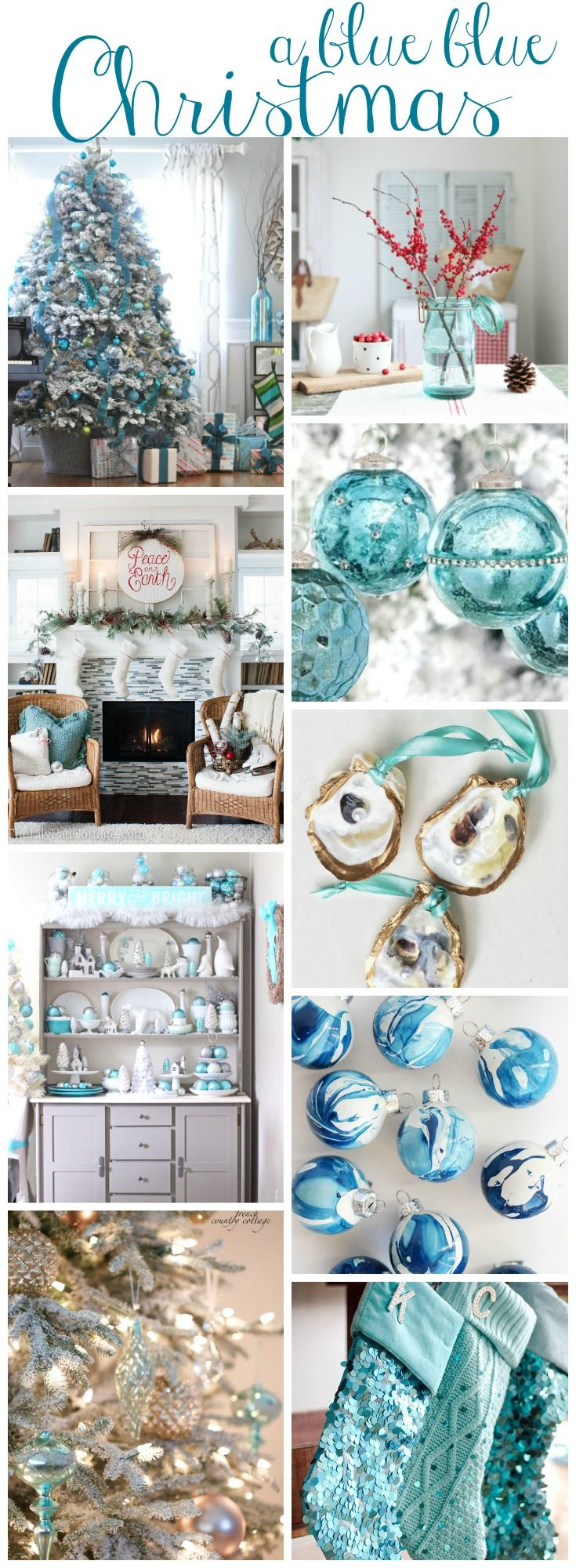 Blue christmas decorations party ideas blue christmas decorations - A Blue Blue Christmas Style Series Diy Christmas Decorationsfood