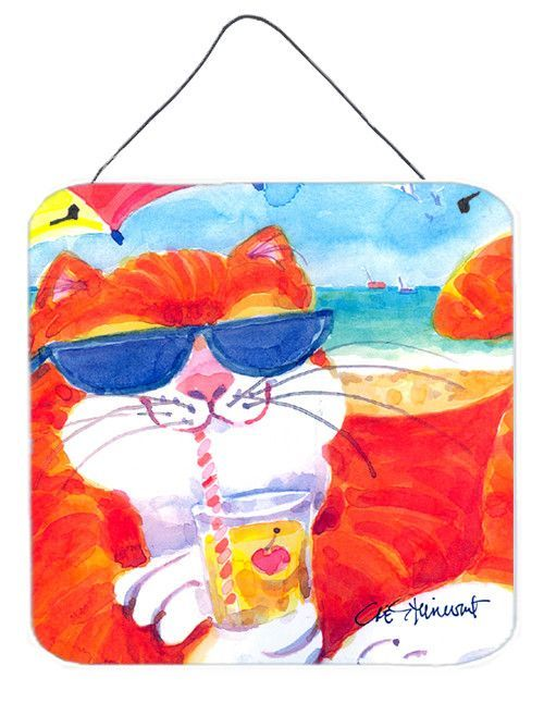 Cool Cat with Sunglasses at the beach Wall or Door Hanging Prints