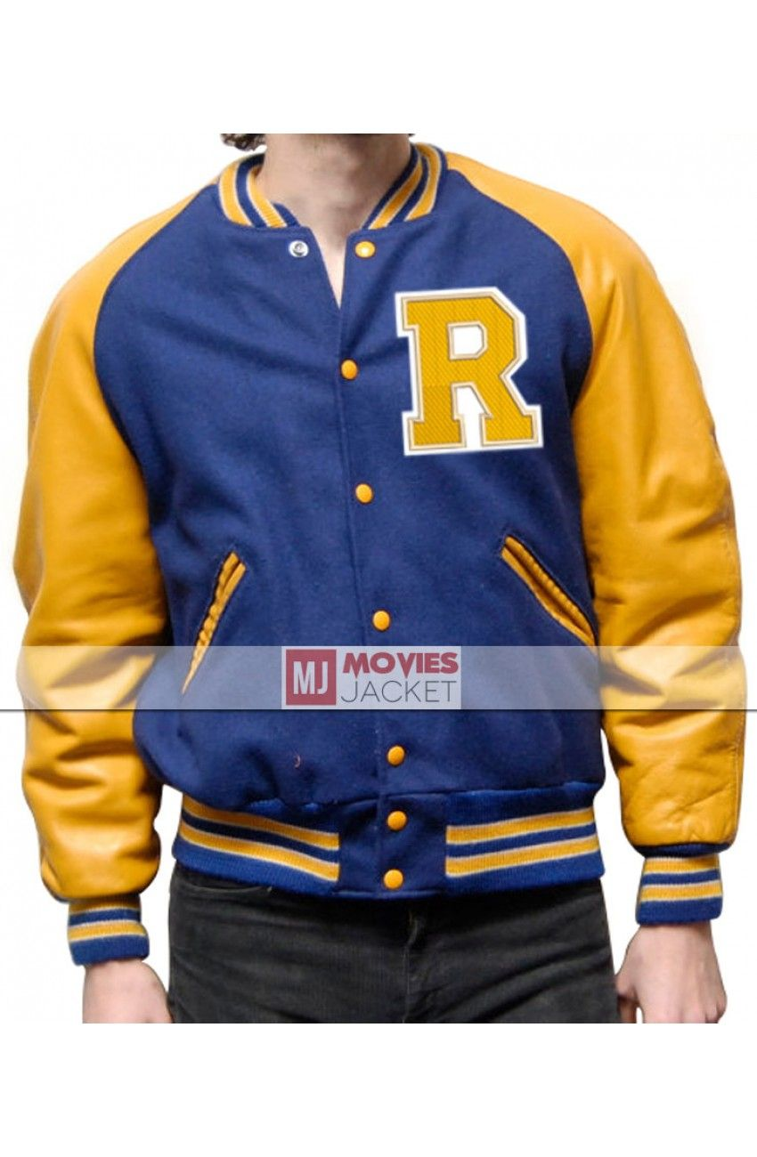 Riverdale KJ Apa Archie Andrews Jacket R Letterman Blue Bomber Varsity Jacket