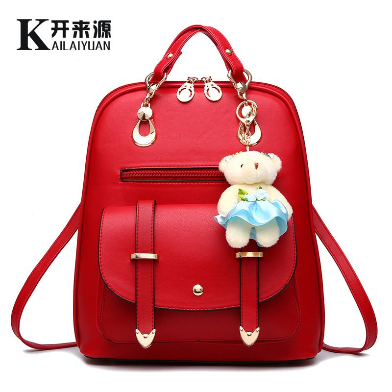 2017 new tide female backpack spring and summer new students large size Korean  women bag 9fb45a5f0c