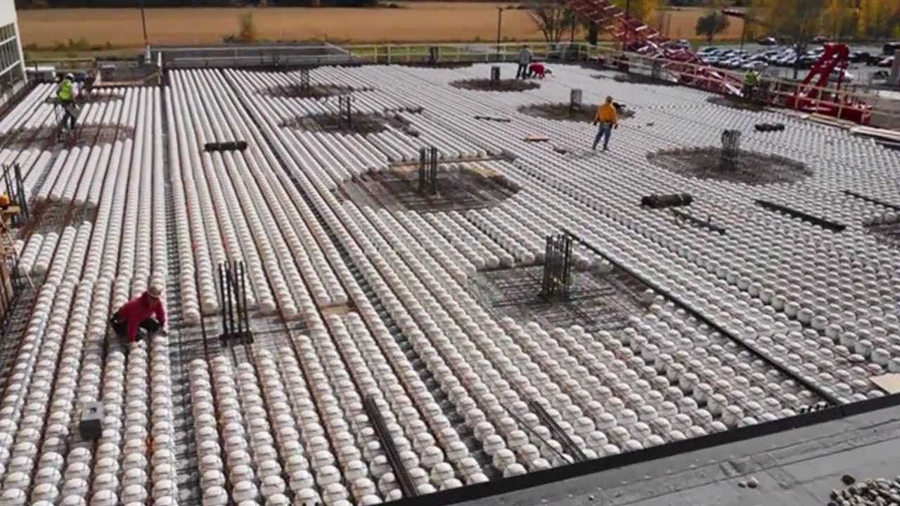 2012 NOVA Award Winner    Bubble Filled Concrete Deck (BubbleDeck)