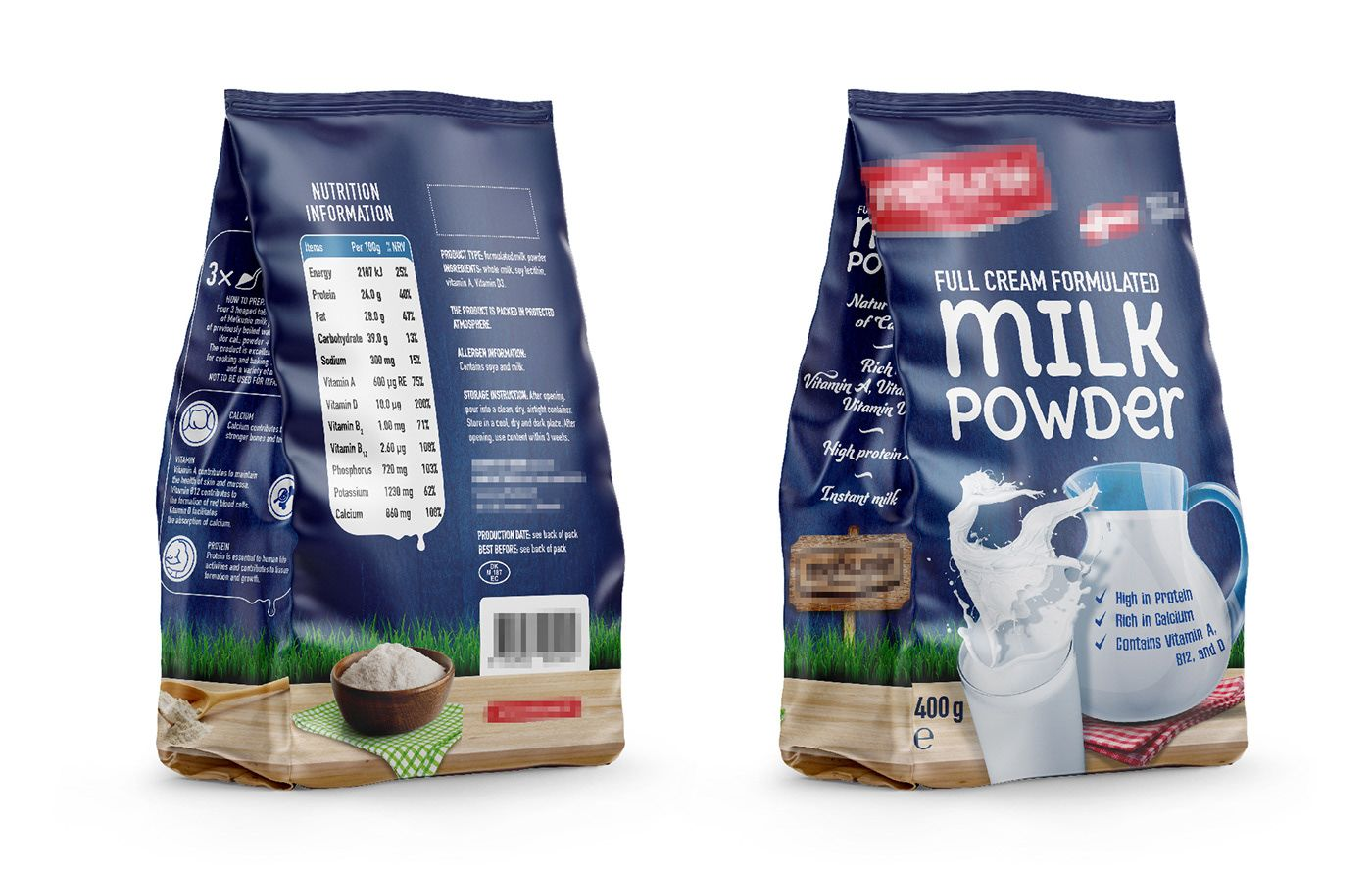 Whole Milk Powder Bag Design