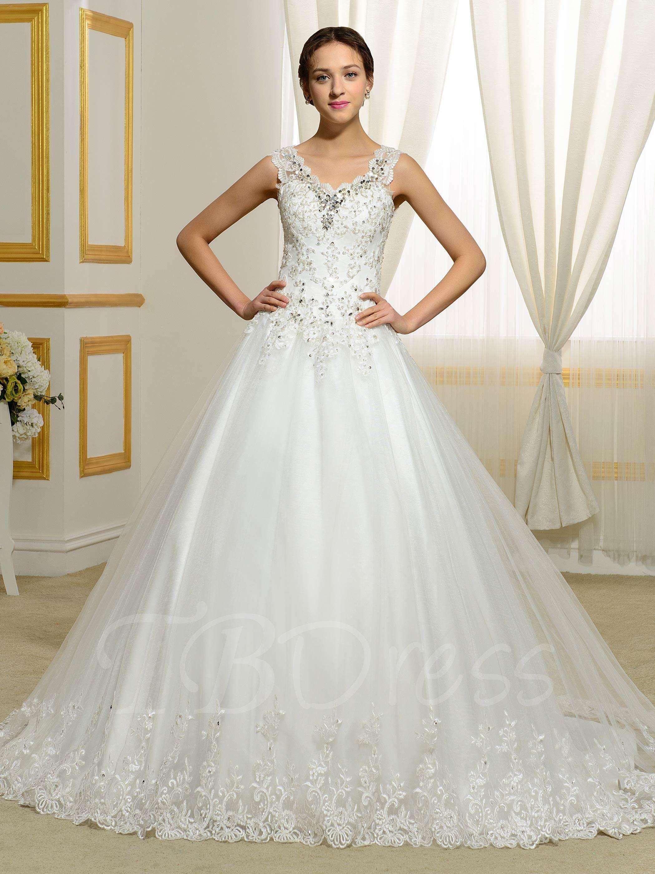 Shop TBDress Appliques Lace Beading Sequins Ball Gown Plus
