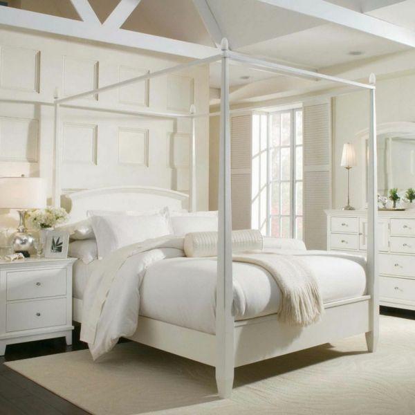 feng shui bett himmelbett schlafzimmer farben weiß | Schlafzimmer ...