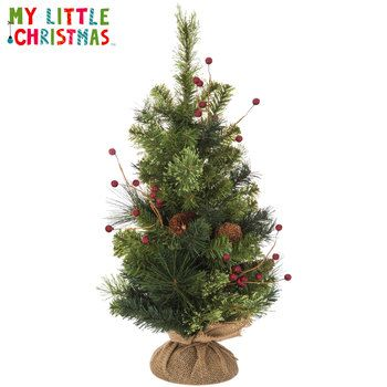 Pinecone  Berry Miniature Christmas Tree- Hobby Lobby Holidays - how to decorate a small christmas tree
