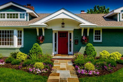 Low Maintenance Landscaping Ideas Curb Appeal Front Doors