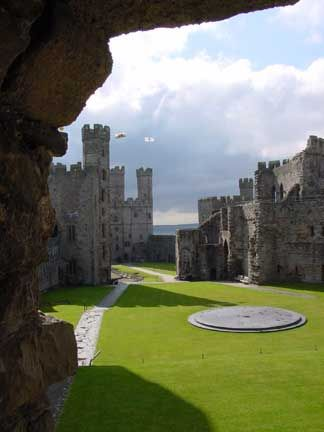 Caernarfon Castle... My Taid (grandfather, in Welsh) grew up near this beautiful place.