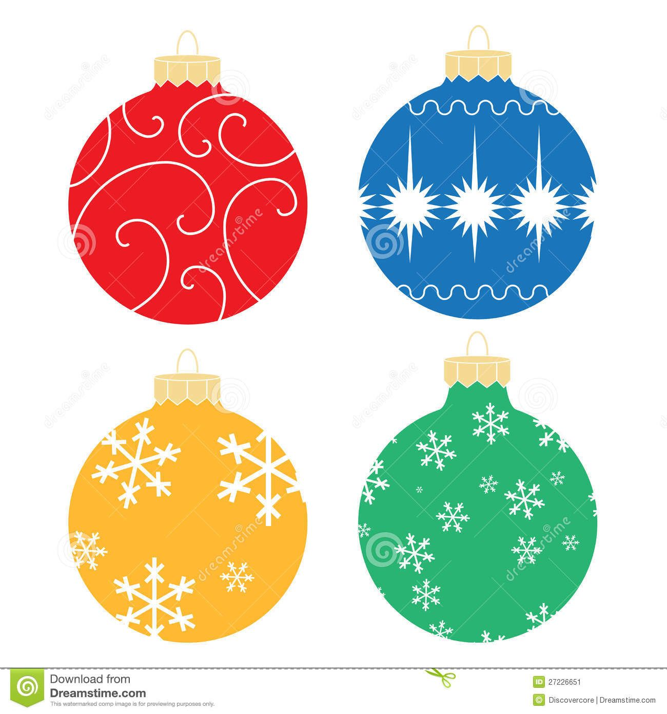 Charming Christmas Ornament Illustration Part - 9: Illustrated Christmas Ornaments Featuring Various Patterns And Styles.
