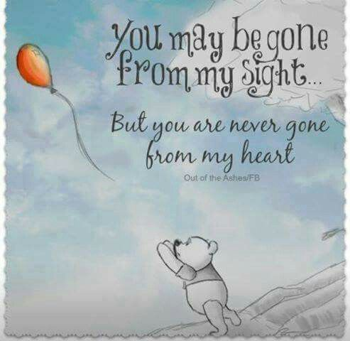 You May Be Gone From My Sight But You Are Never Gone From My Heart