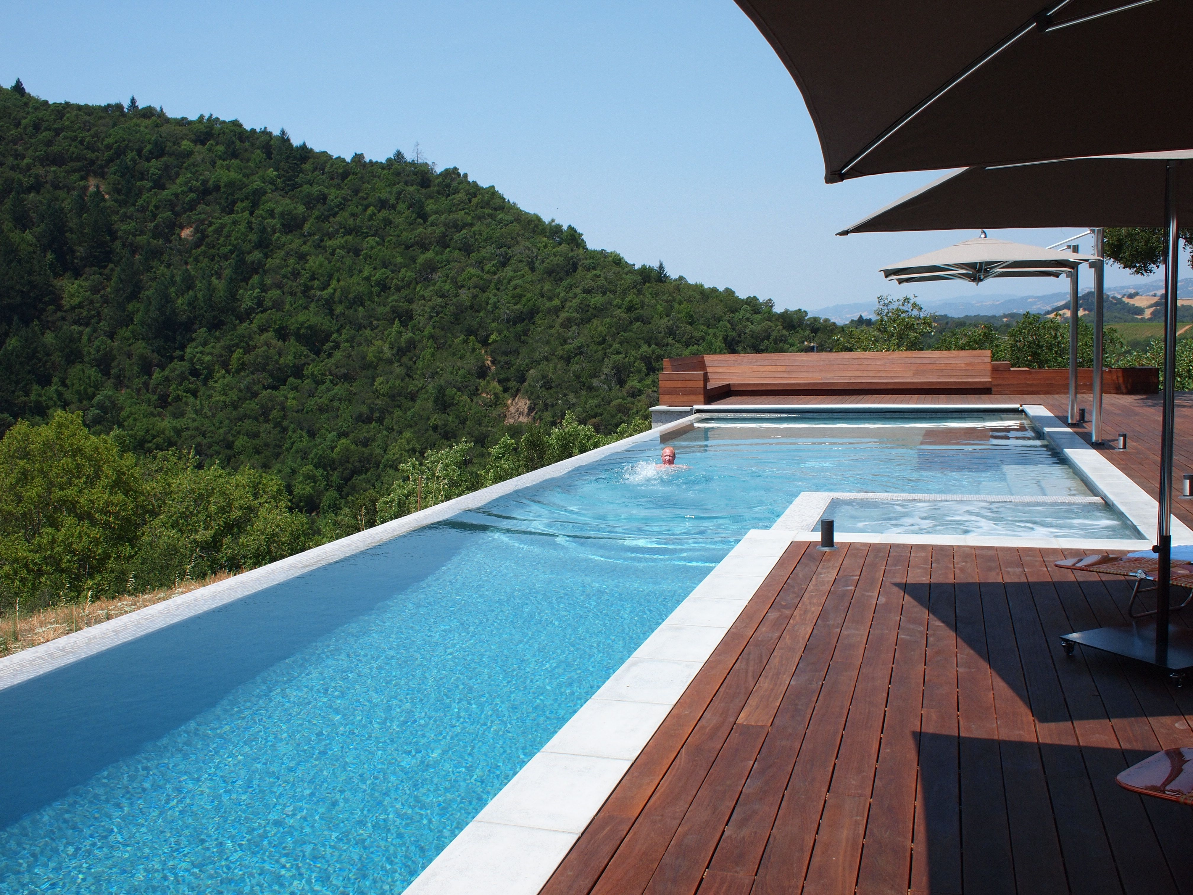 Infinity pool at a beautiful new house in Healdsberg | Favorite ...
