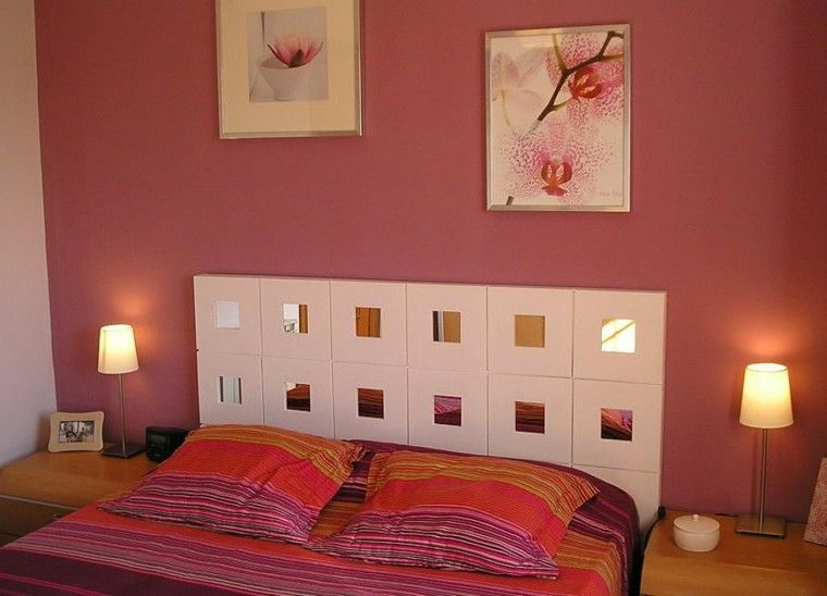 Cabeceros hechos a mano con espejos cabecero pinterest - Hacer cabecero cama ...