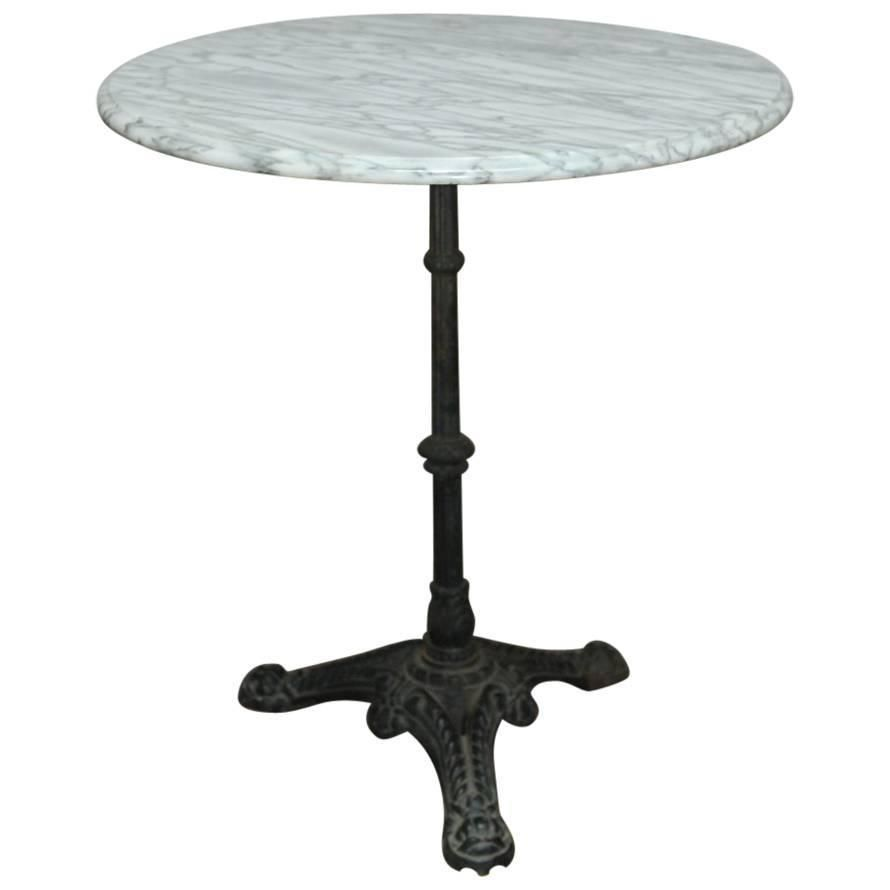 Antique French Bistro Table From One Kings Lane Early 20th Century - French parisian marble top bistro table