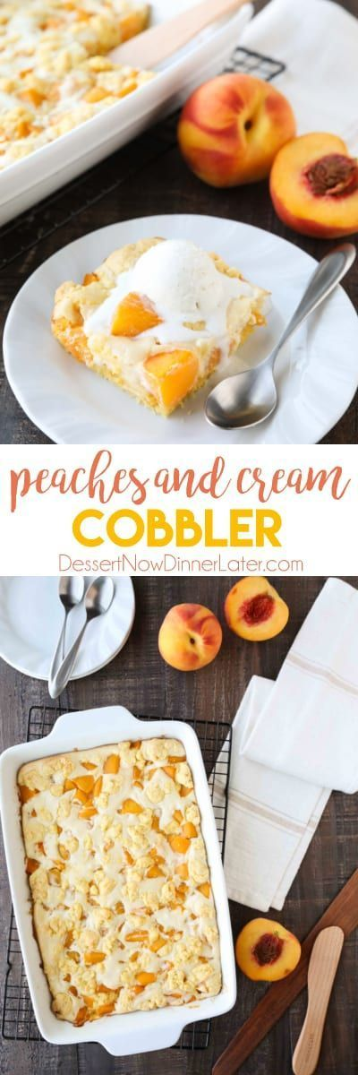Peach cobbler meets cheesecake in this delicious dessert duo! An easy and unique twist from a traditional peach cobbler. There's cake mixture on bottom and on top, with peaches and cheesecake in-between. #peachcobblercheesecake Peach cobbler meets cheesecake in this delicious dessert duo! An easy and unique twist from a traditional peach cobbler. There's cake mixture on bottom and on top, with peaches and cheesecake in-between. #peachcobblercheesecake