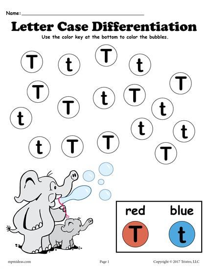 Letter T Do A Dot Printable Worksheet Coloring Page