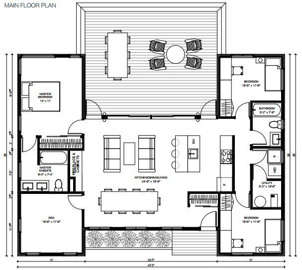 Minihomes Hybrid Trio Prefab Home Plans House Floor Plans Modern Prefab Homes Prefab Homes