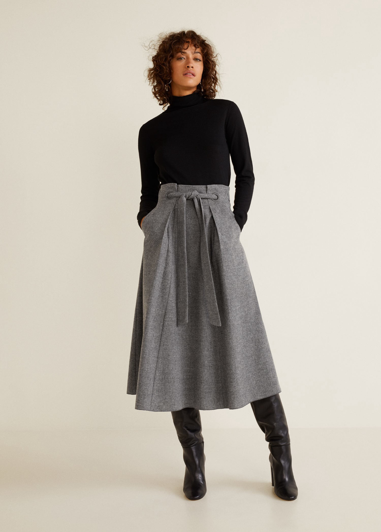 056dabd20a Mango Flared Long Skirt - XS in 2019 | Products | Winter skirt ...