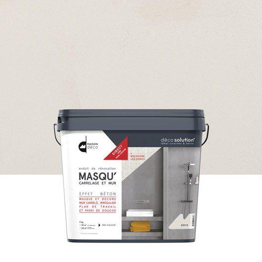 Enduit Masqu'carrelage et mur MAISON DECO, Pierre, 9 kg. Leroy Merlin 47,90€. | Carrelage ...