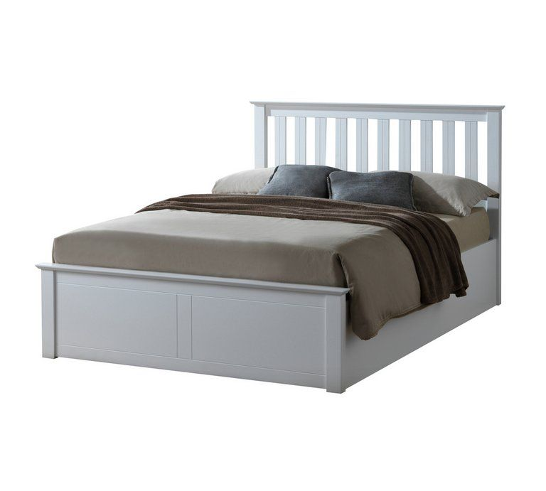 Stupendous Buy Birlea Phoenix White Double Ottoman Bed Frame Bed Forskolin Free Trial Chair Design Images Forskolin Free Trialorg
