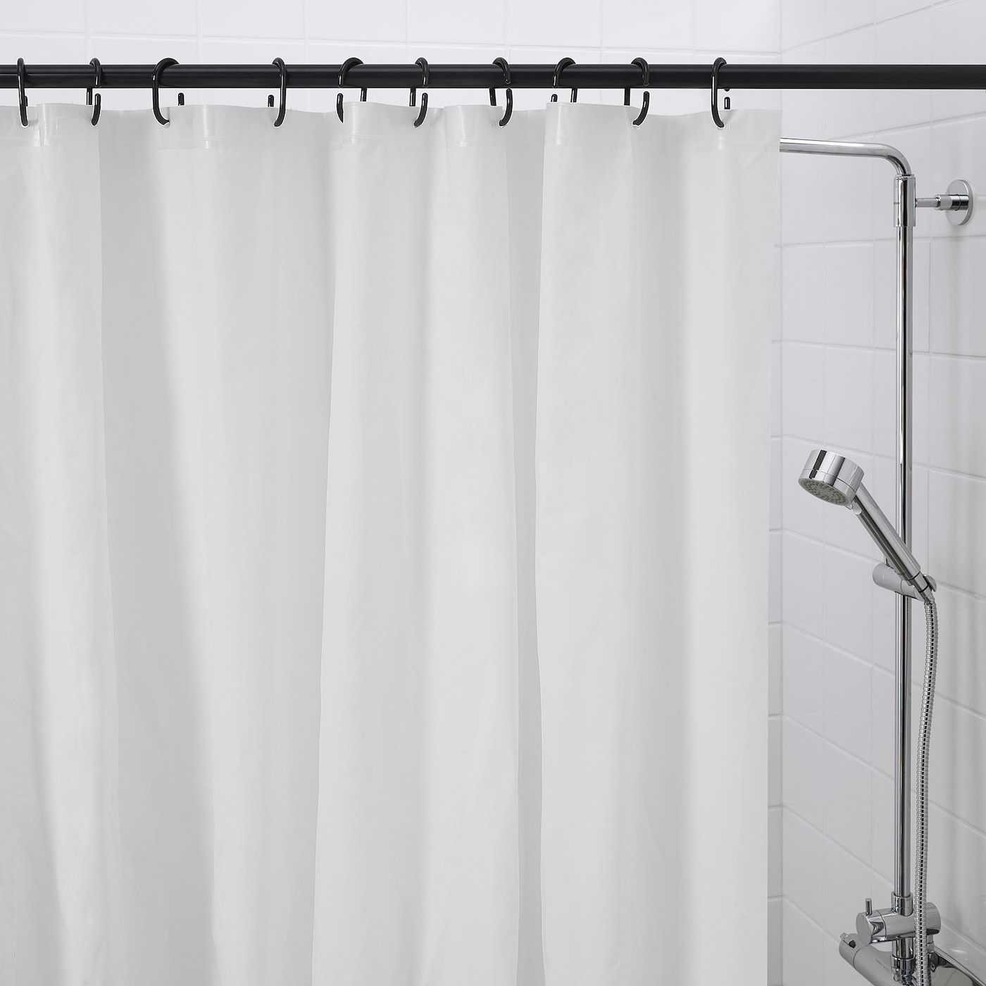 Ikea Ringsjon Shower Curtain Ring Black Shower Curtains