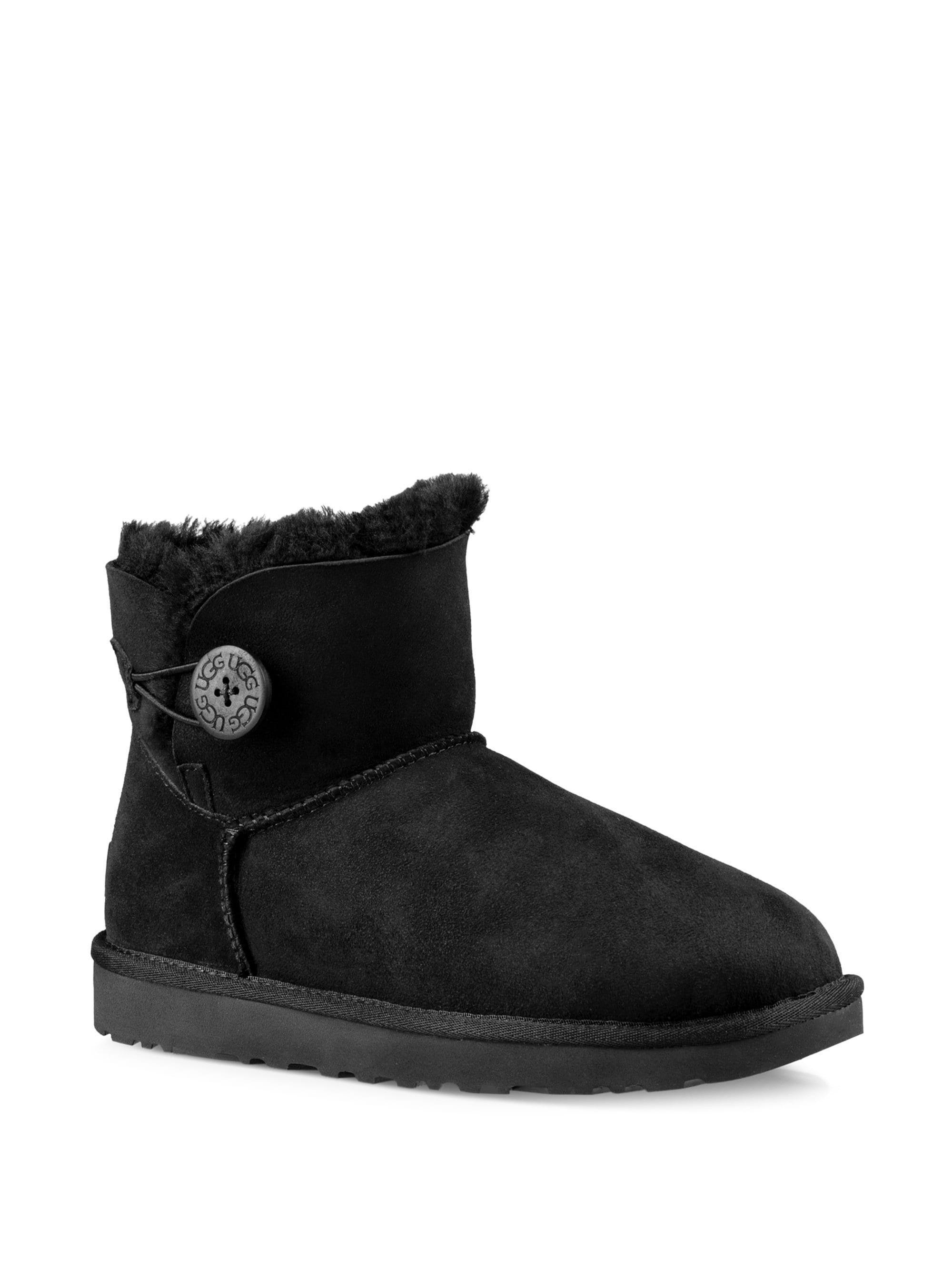 00cf673e09 Ugg Australia Mini Bailey Button Ankle Boots - Chestnut 10